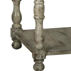Distressed Vintage Cream Accent Table - Thumbnail 2