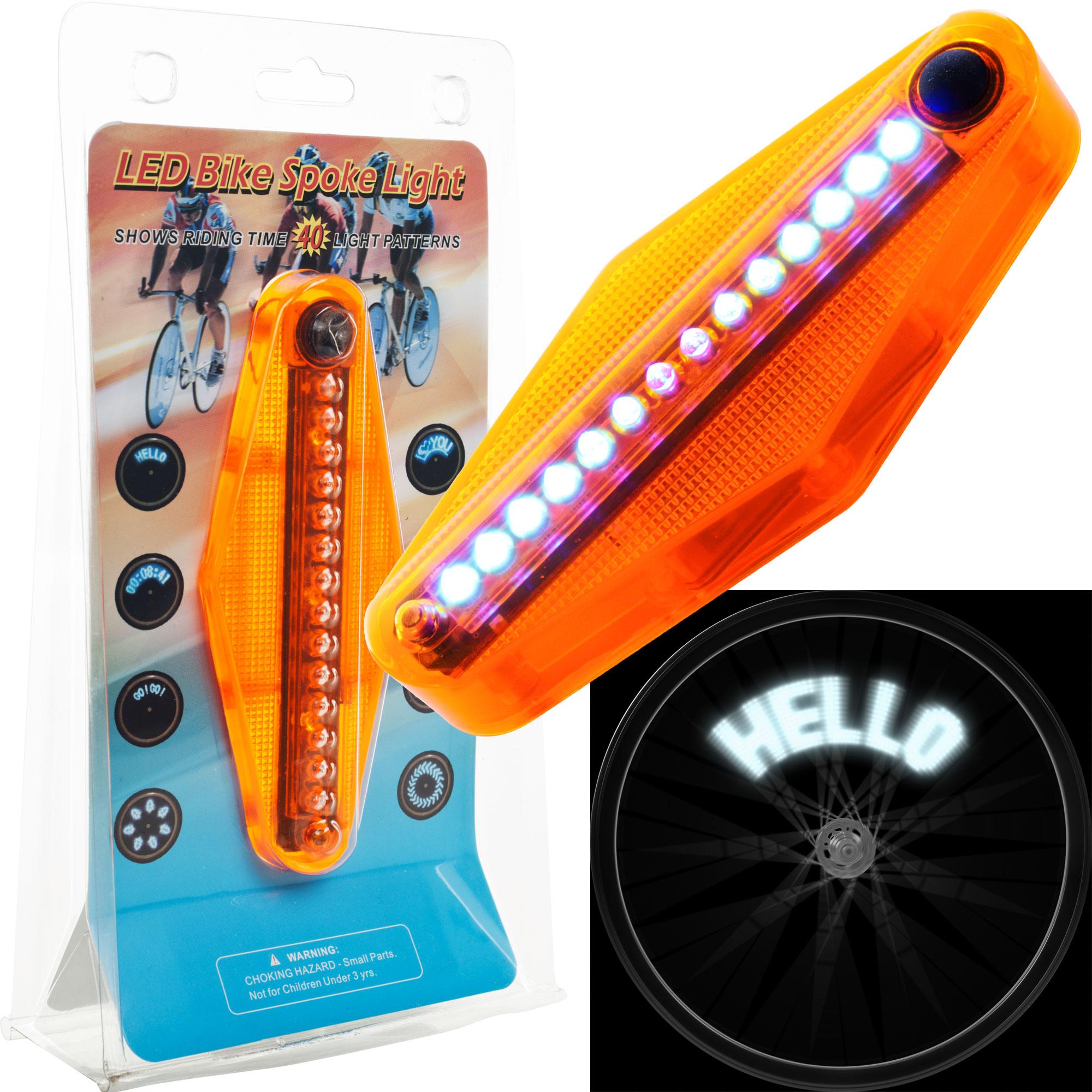 TG LED Bike Spoke Message14 LED Light (Set of 4)