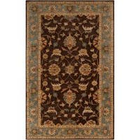 Hand-Tufted Multicolored-Earth-Tone Kings Bay New-Zealand-Wool Area Rug (9' x 13')