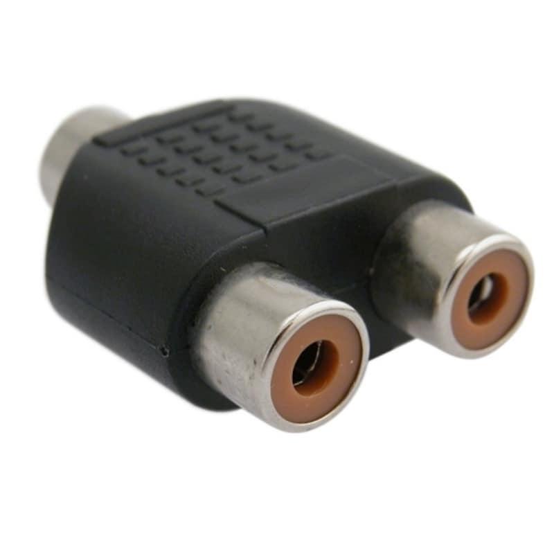 BasAcc RCA Female to 2 Female Adapter