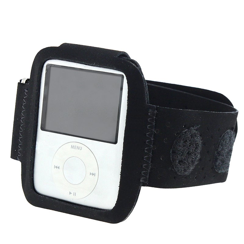 BasAcc Black Suede Velcro Armband for iPod Gen3 Nano