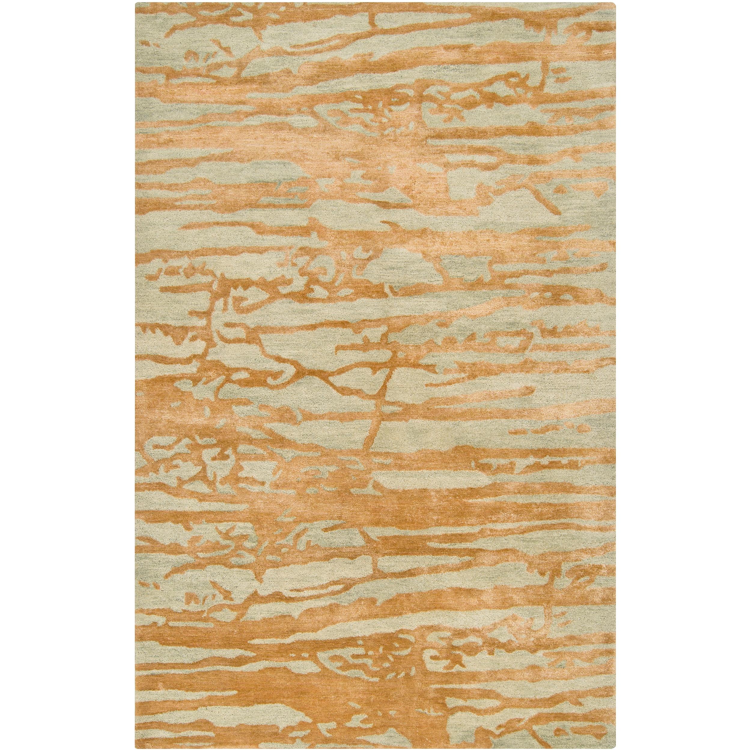 Hand-tufted Green Caparo Street Abstract Wool Area Rug (8' x 11')