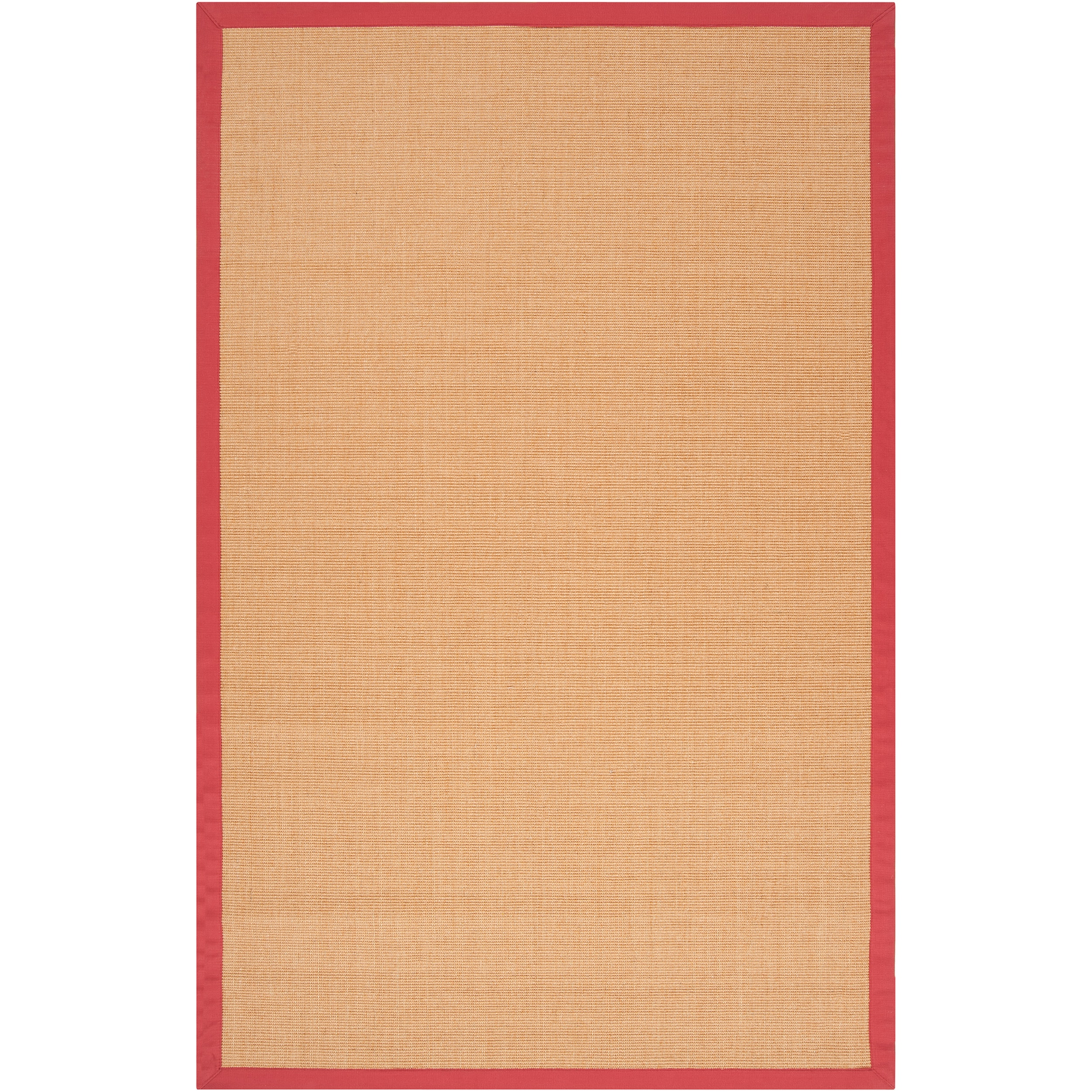 Traditional Woven Red Hillsborough West Natural Fiber Sisal Rug (8' x 10')