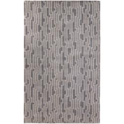 Hand-knotted 'Light House' Gray Geometric Wool Rug (9' x 13')