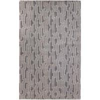 Hand-knotted 'Light House' Gray Geometric Wool Area Rug - 9' x 13'