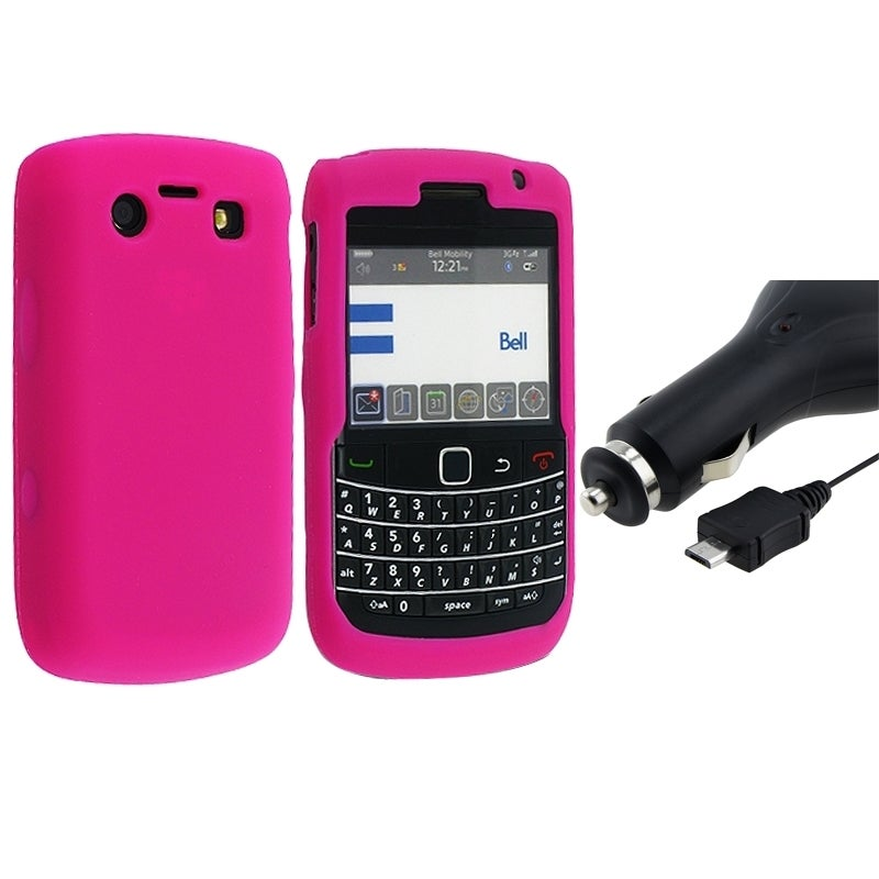 BasAcc Silicone Case/ Car Charger for BlackBerry 9700
