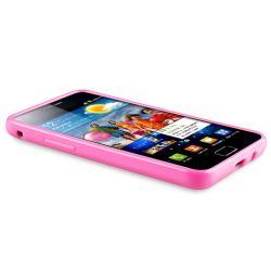 Pink TPU Case/ Screen Protector for Samsung Galaxy S II i9100 - Thumbnail 2