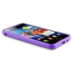 Purple TPU Case/ Screen Protector for Samsung Galaxy S II i9100