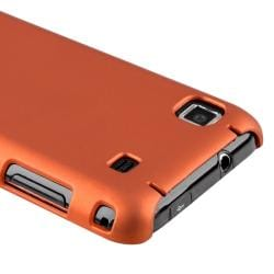 Orange Rubber Coated Case/ Screen Protector for Samsung i9000 Galaxy S