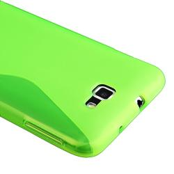 Clear Green TPU Rubber Skin Case for Samsung Galaxy Note N7000/ I717