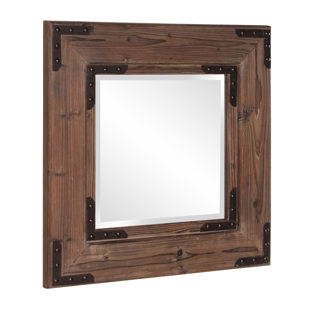 Caldwell Square Natural Wood Mirror