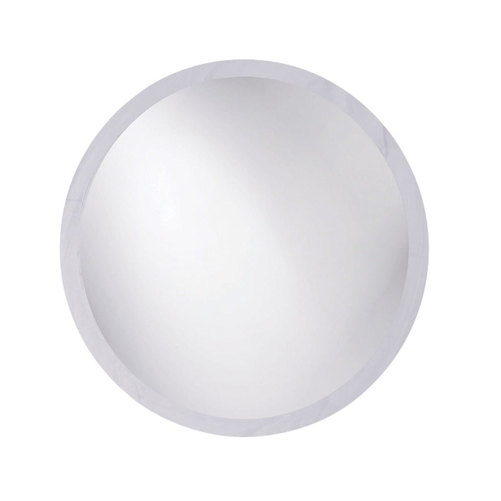 Frameless Beveled Round Mirror - Thumbnail 0
