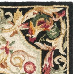 Safavieh Hand-hooked Rooster Ivory/ Black Wool Rug (1'8 x 2'6) - Thumbnail 1