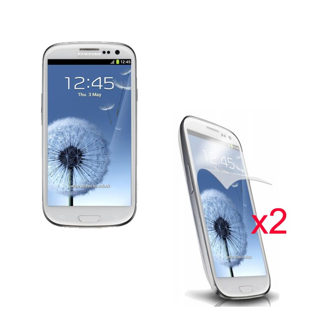 Anti-fingerprint Screen Protector for Samsung Galaxy S III S3 (Pack of 2)