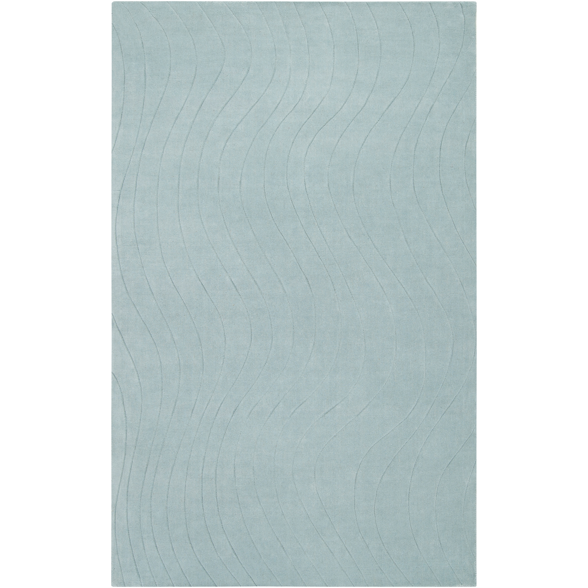 Somerset Bay Loomed Blue South Hampton Geometric Waves Wool Rug (3'3 x 5'3)