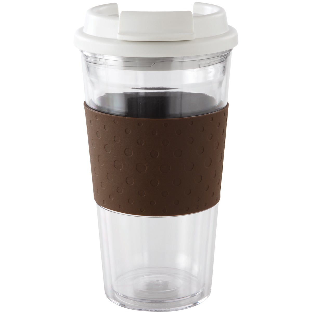 Brew View Timbler 16 Ounce-Brown/Clear