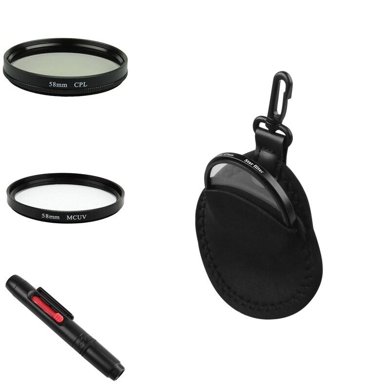 58-mm MC-UV Lens Filter/ Polarizing Lens Filter/ Bag/ Cleaning Pen