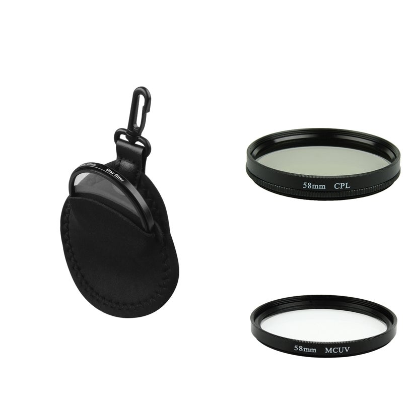 58-mm Circular Polarizing Lens Filter/ Filter Bag/ MC-UV Lens Filter