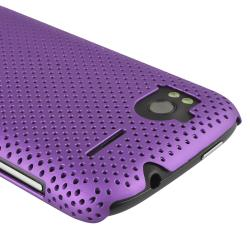 Purple Meshed Rear Case/ Screen Protector for HTC Sensation 4G - Thumbnail 2