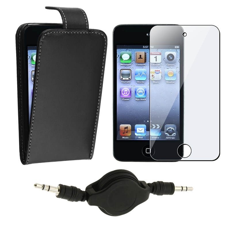 Case/ LCD Protector/ Audio Cable for Apple iPod Touch Generation 4