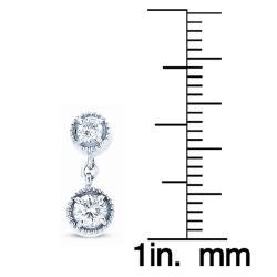14k White Gold 3/4ct TDW Diamond Dangle Earrings (H-I, I1-I2) - Thumbnail 2