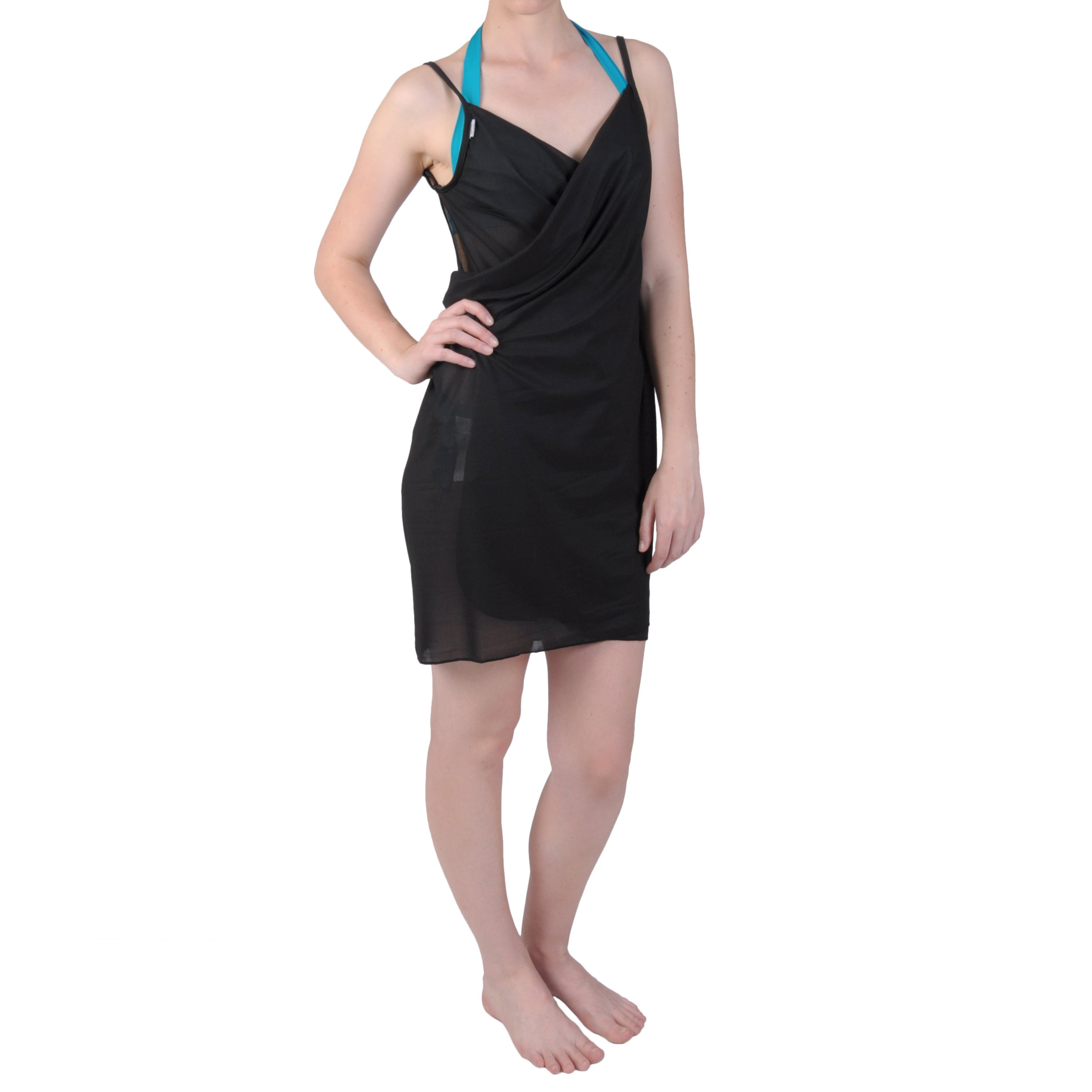 Saress Womens Casual Beach Wrap Dress