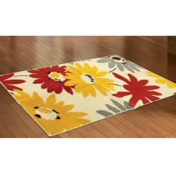 Bright Exploded Floral Rug (2'3 x 4')