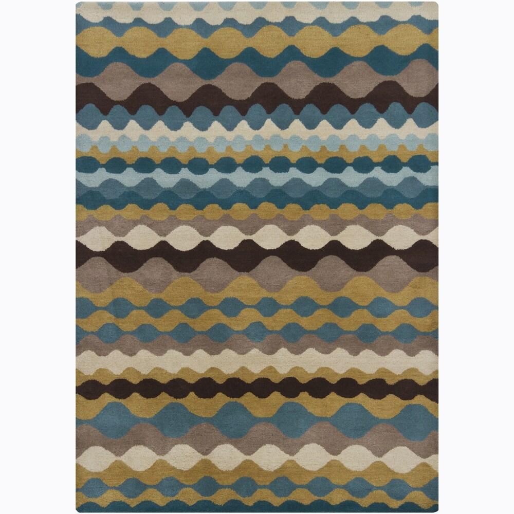 Hand-tufted Mandara Abstract Wool Rug (7' x 10')