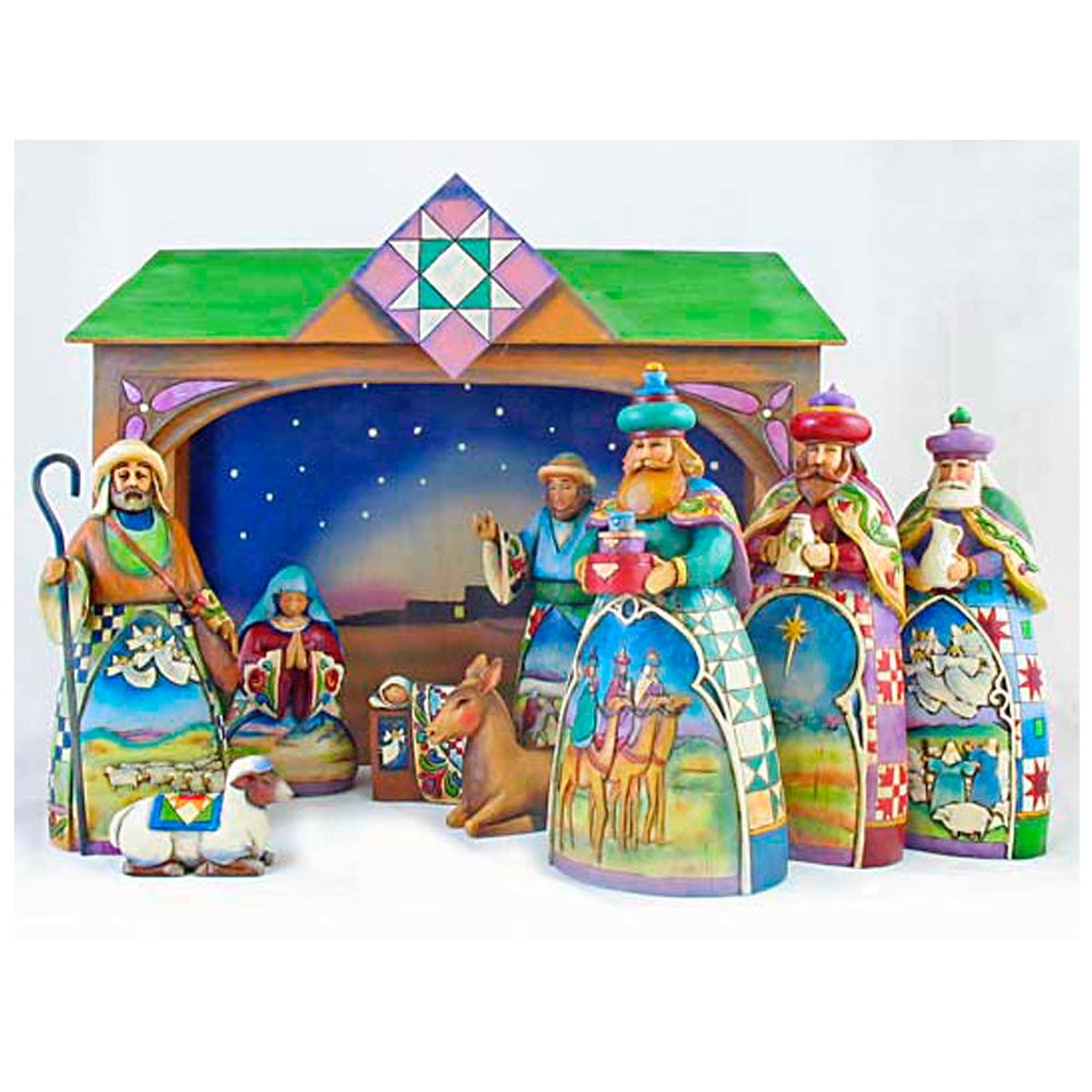 Enesco Jim Shore 10-piece Nativity Figurine Set