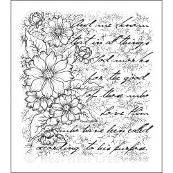 "Heartfelt Creations Cling Rubber Stamp Set 5""X6.5""-Tattered Collage - Thumbnail 1"