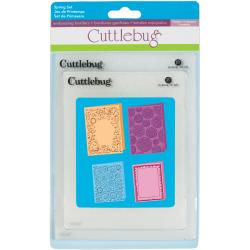 "Cuttlebug Embossing Folders 4/Pkg-Spring (2) 5""X7"" & (2) A2"