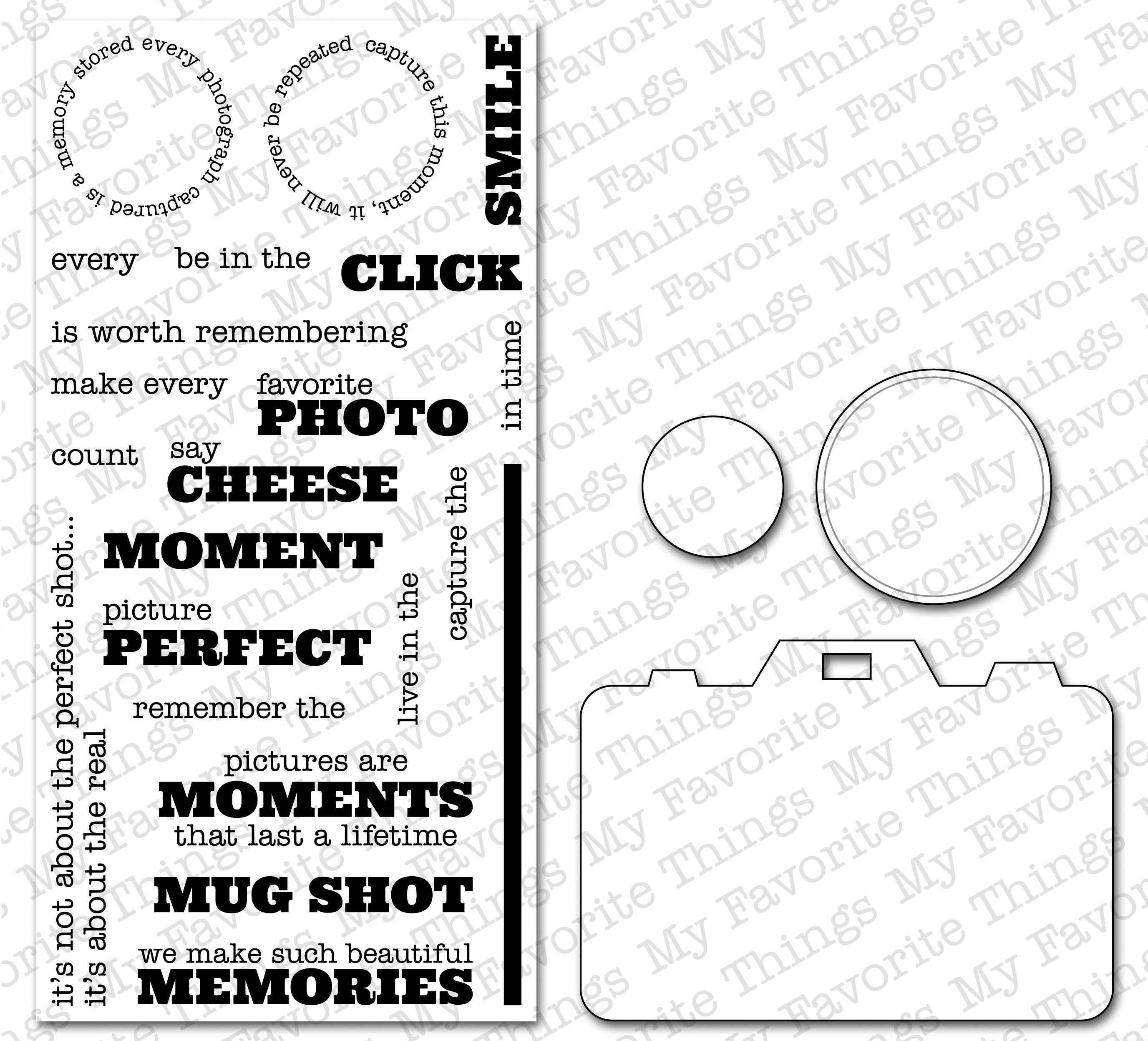 Die-Namics Die & Stamp Set-Behind The Camera