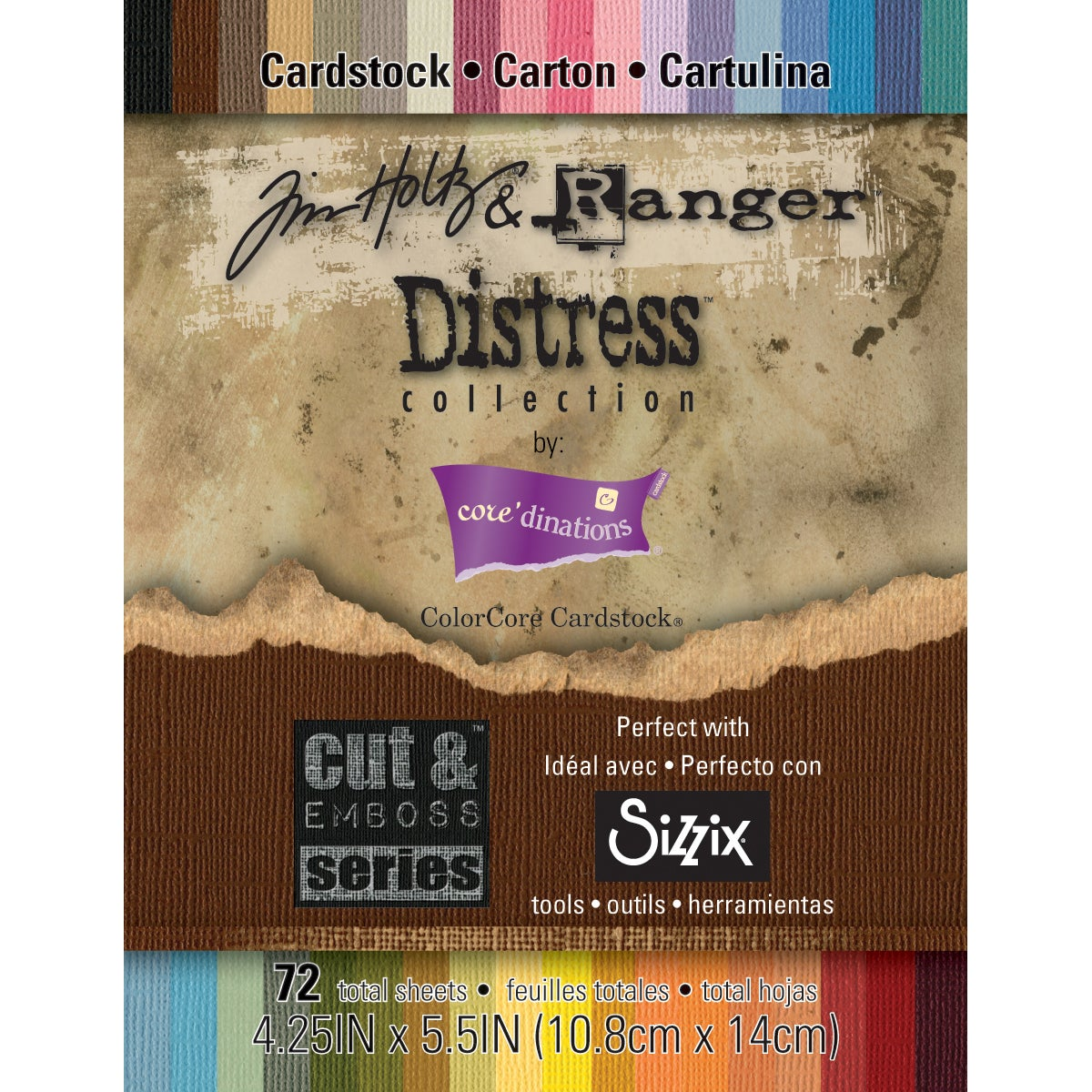 "Core'dinations Distress Cardstock By Tim Holtz 72/Pkg-4.25"" X 5.5"""