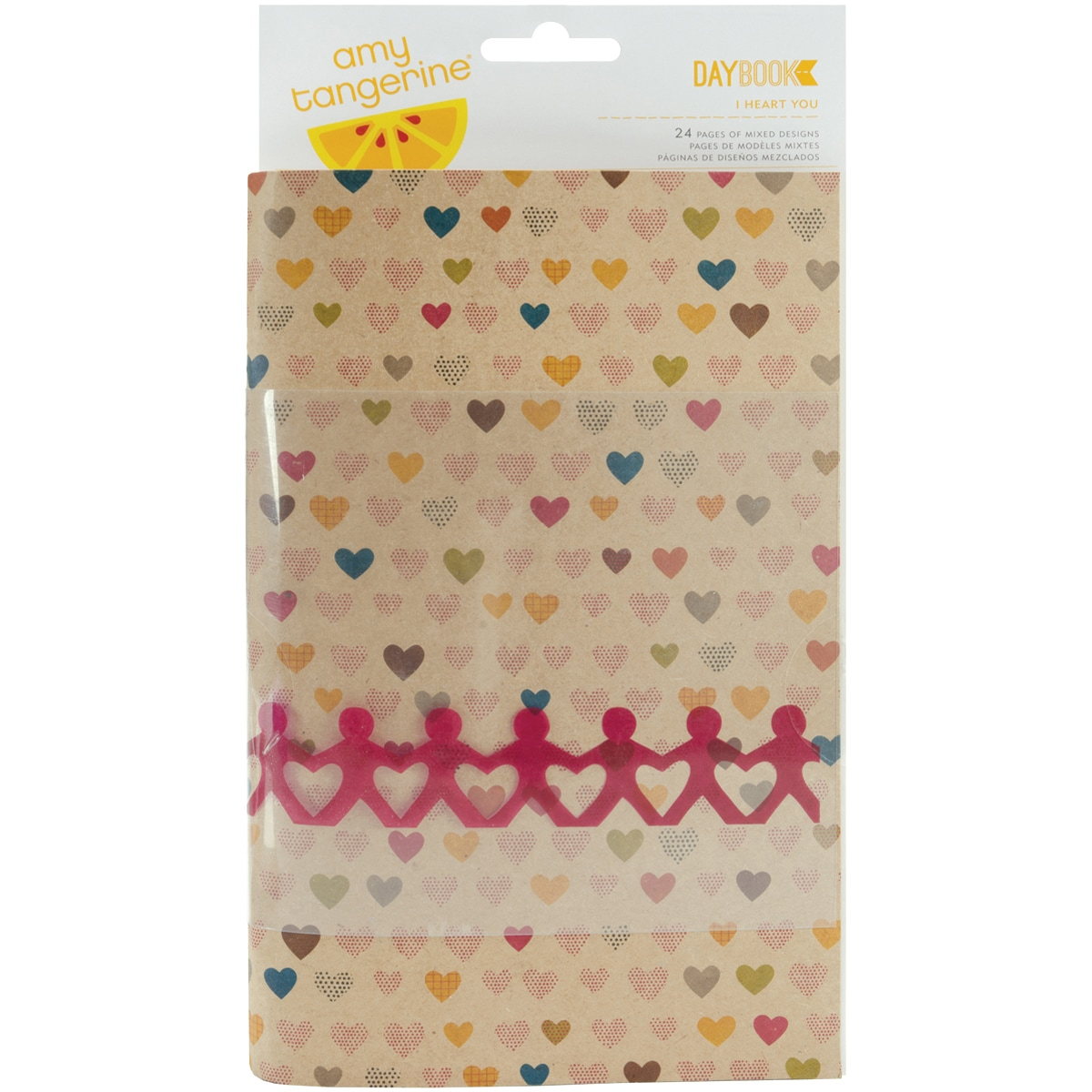 """American Crafts Daybook 5-1/2""""X8-1/2""""-I Heart You"""
