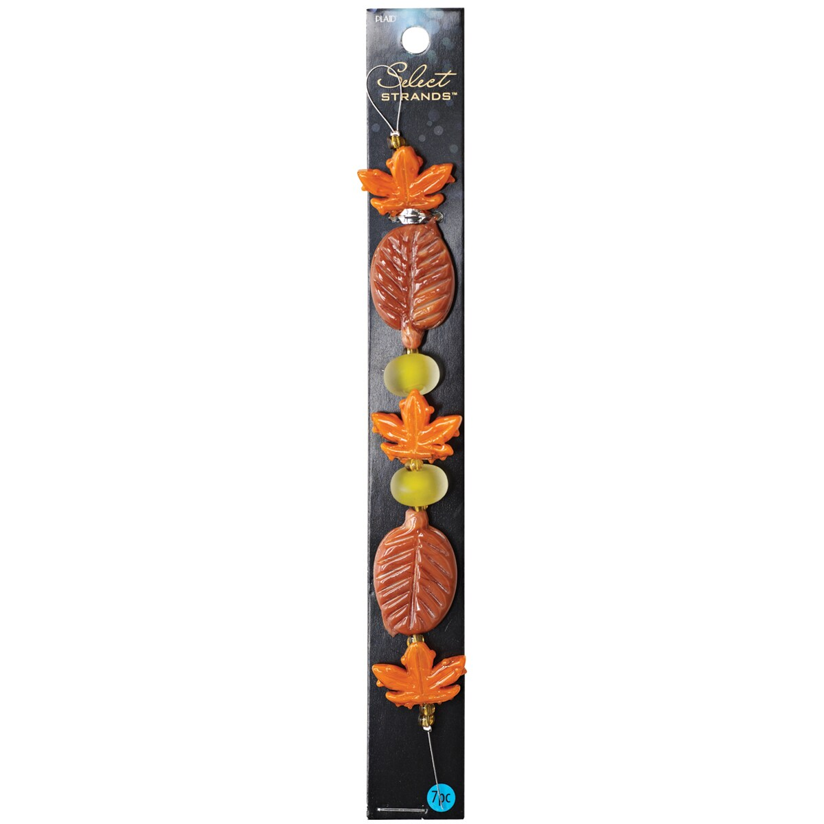 Select Strands Lampwork Beads -Fall Leaves