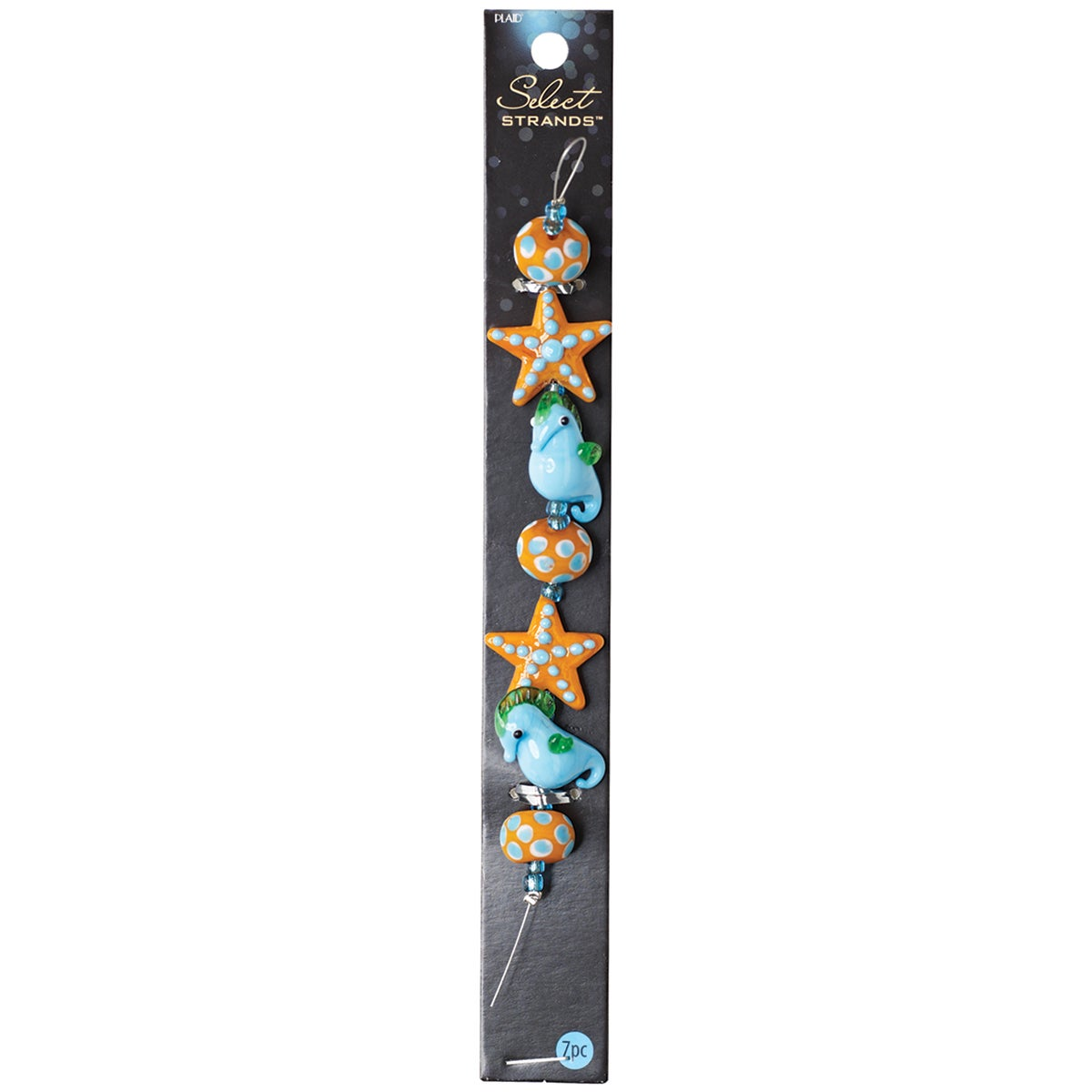 Select Strands Lampwork Beads -Orange Starfish & Seahorse