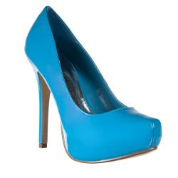 Riverberry Women's 'XOXO' Turquoise Patent Pumps