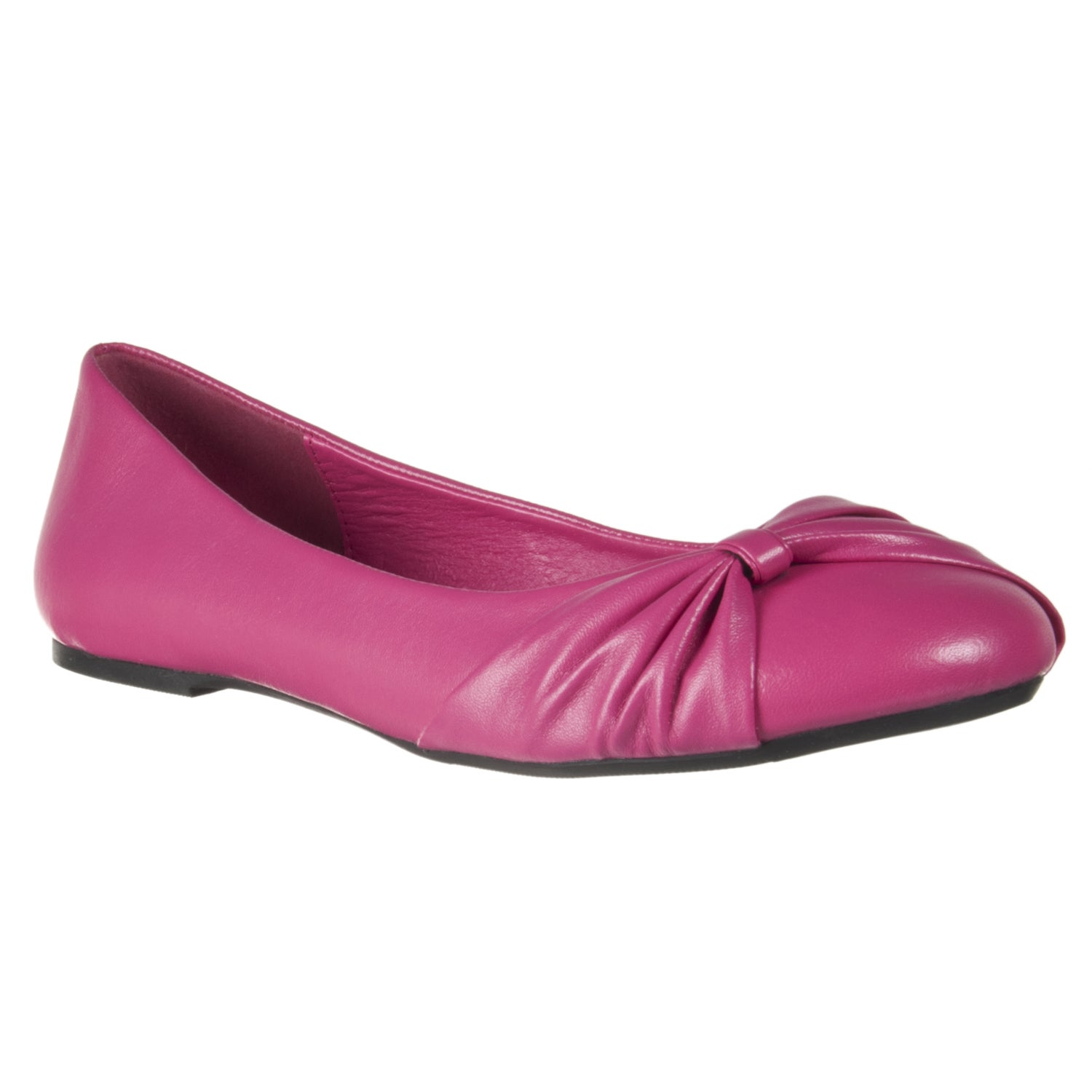 Riverberry Women's Fuchsia Bow-detail Ballet Flats