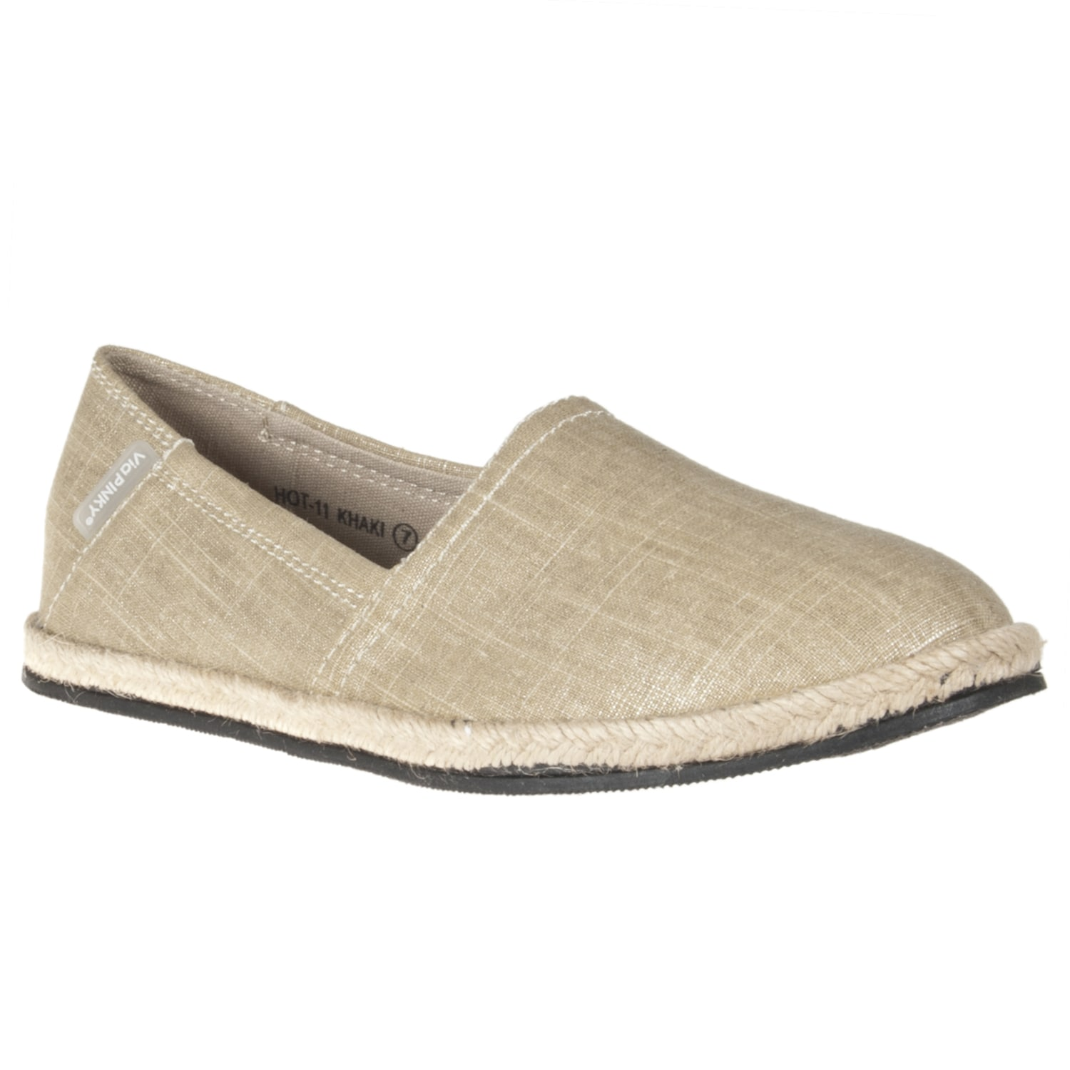 Riverberry Women's 'Hot' Khaki Canvas Slip-ons