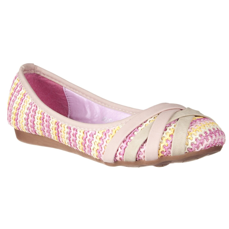 Riverberry Women's 'Muse' Pink Woven Ballet Flats