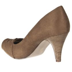 Riverberry Women's 'Array' Taupe Ruched Toe Pumps - Thumbnail 1