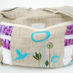 Handmade Hummingbird Spring Crossbody Hemp Messenger Bag (Nepal) - Thumbnail 2
