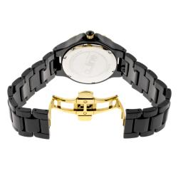 Women's 'Marina' Black Textured Dial Black Ceramic Watch - Thumbnail 1