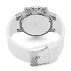 Women's 'Marina' Chronograph White Textured Dial White Watch - Thumbnail 1