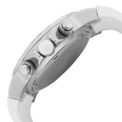 Women's 'Marina' Chronograph White Textured Dial White Watch - Thumbnail 2