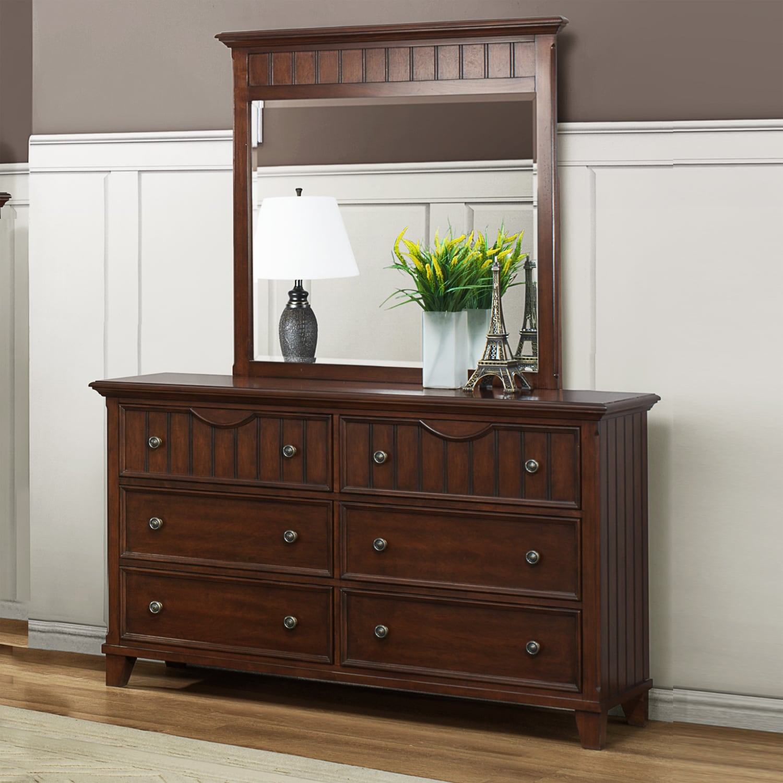 Alderson Warm Cherry Dresser and Mirror