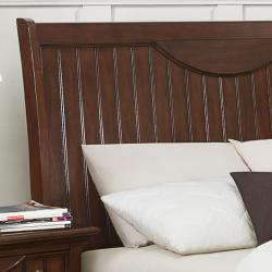 Alderson Warm Cherry Brown Cottage King-size Bed - Thumbnail 1