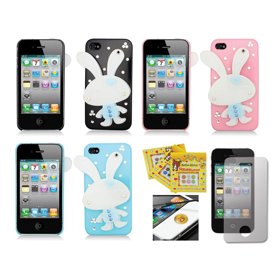 Apple iPhone 4/4S Sparkling Bunny Compact Mirror Designer Case