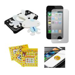 Apple iPhone 4/4S Sparkling Bunny Compact Mirror Designer Case - Thumbnail 1