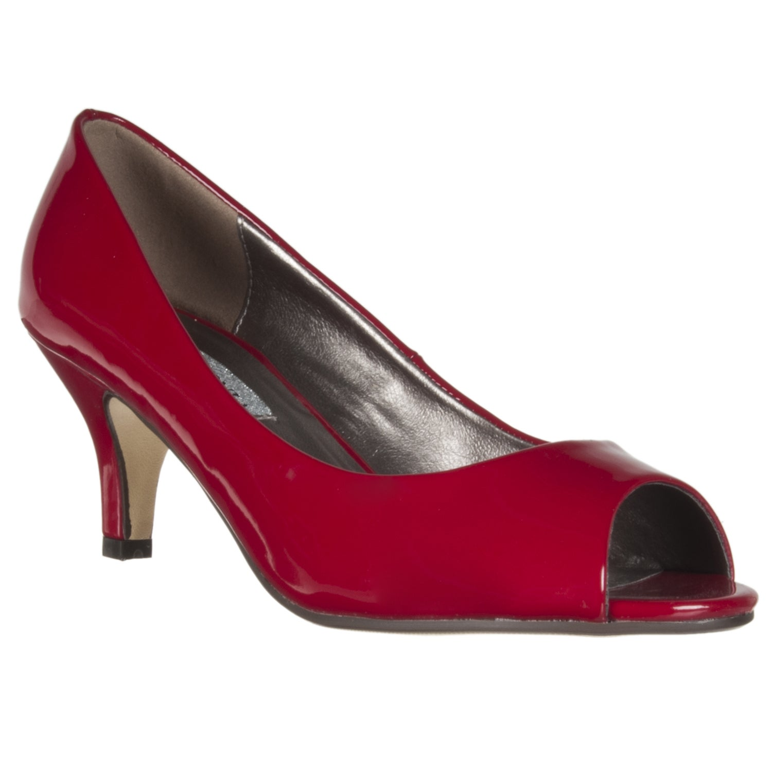 Riverberry Women's Red Patent Peep Toe Pumps